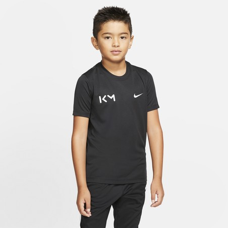 T-shirt Lifestyle junior Mbappé noir 2019/20