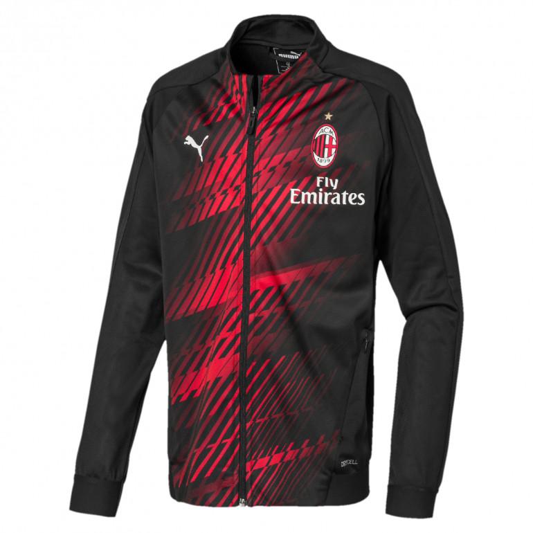 Veste survêtement junior Milan AC noir rouge 2019/20