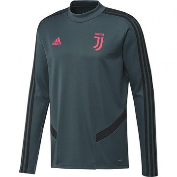 Sweat entraînement junior Juventus vert rose 2019/20
