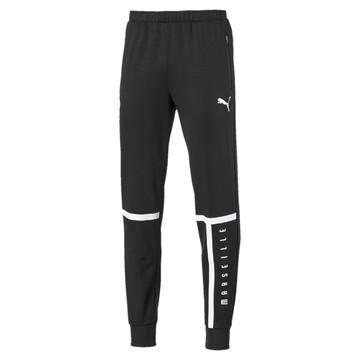 Pantalon survêtement OM molleton noir 2019/20
