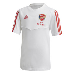 T-shirt junior Arsenal blanc rouge 2019/20