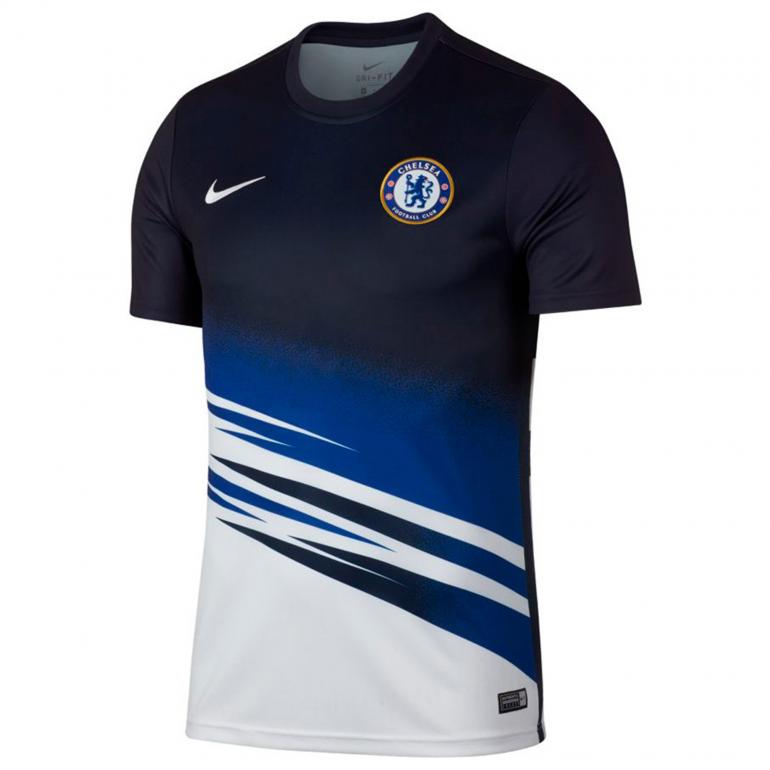 Maillot avant match Chelsea blanc bleu 2019/20