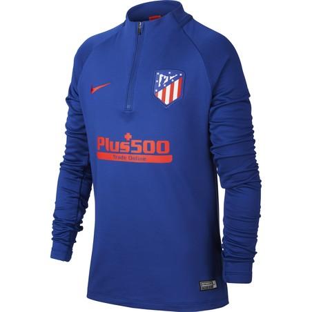 Sweat zippé junior Atlético Madrid bleu rouge 2019/20