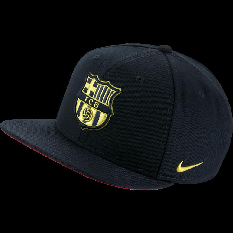Casquette visière plate FC Barcelone noir jaune 2019/20