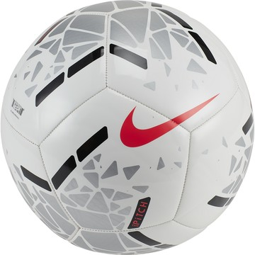 Ballon Nike Pitch blanc rouge 2019/20
