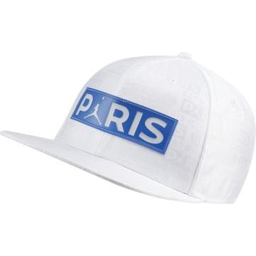 Casquette visière plate PSG Jordan blanc bleu 2019/20