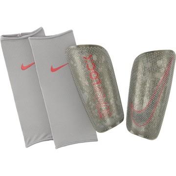 Protège tibias Nike Mercurial lite Superlock gris rouge 2019/20