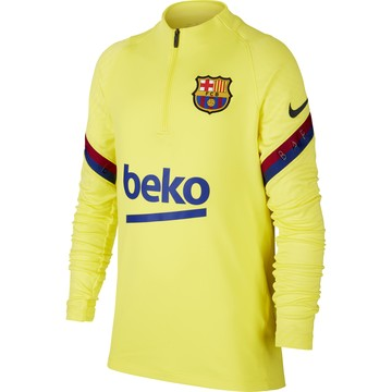 Sweat zippé junior FC Barcelone jaune 2019/20