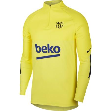 Sweat zippé FC Barcelone VaporKnit Strike jaune 2019/20