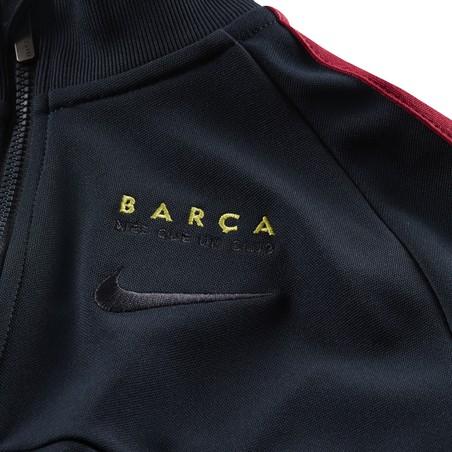 Veste survêtement junior FC Barcelone I96 bleu foncé 2019/20