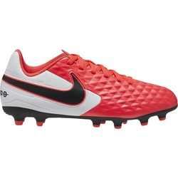 Tiempo Legend 8 junior AcademyFG/MG blanc rose