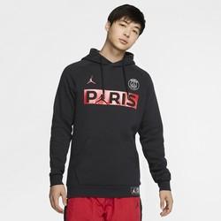 Sweat à capuche PSG Jordan noir rouge 2019/20
