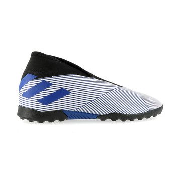 Nemeziz 19.3 junior LaceLess turf bleu blanc