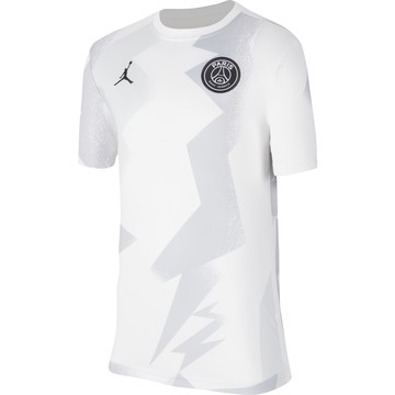 Maillot junior avant match PSG Jordan blanc 2019/20