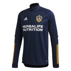 Sweat zippé Los Angeles Galaxy bleu jaune 2020