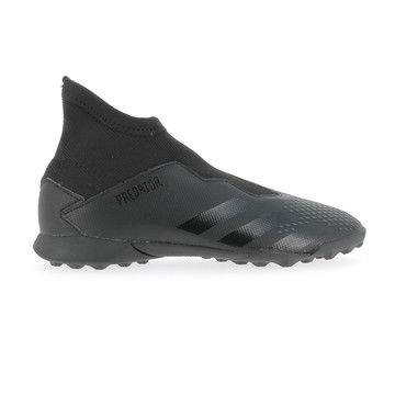 Predator 20.3 junior LaceLess turf noir