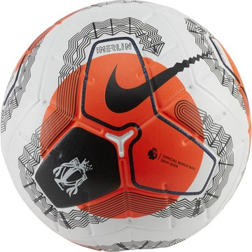 Ballon officiel Premier League Merlin blanc orange 2019/20