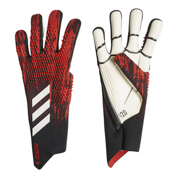 Gants gardien adidas Predator 20 Pro noir rouge 2019/20