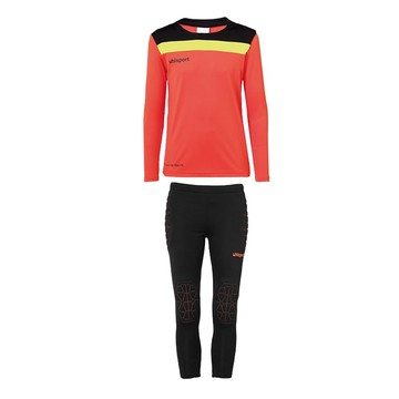 Tenue Gardien junior Uhlsport  noir rouge 2020/21