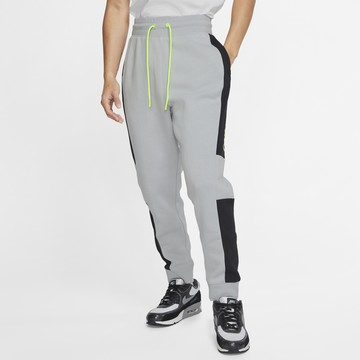 Pantalon survêtement Nike Air Fleece gris jaune