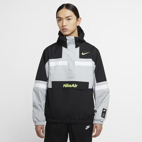 Sweat zippé Nike Air Woven gris jaune