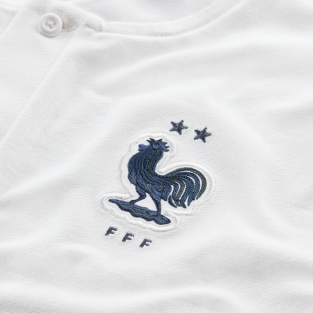 Polo Equipe de France Authentique blanc 2020