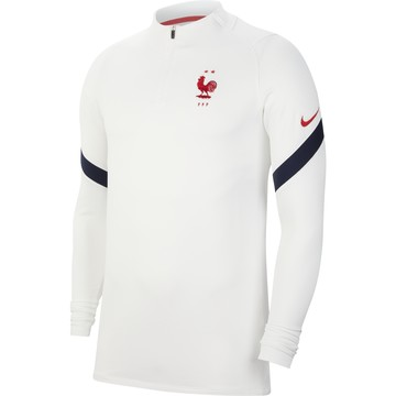 Sweat zippé Equipe de France blanc 2020/21