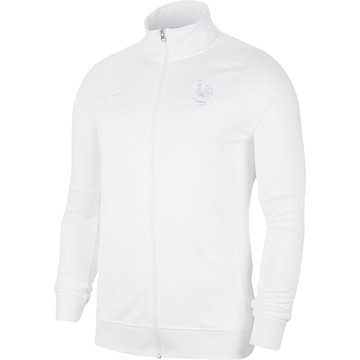 Veste survêtement Equipe de France I96 Anthem blanc 2020