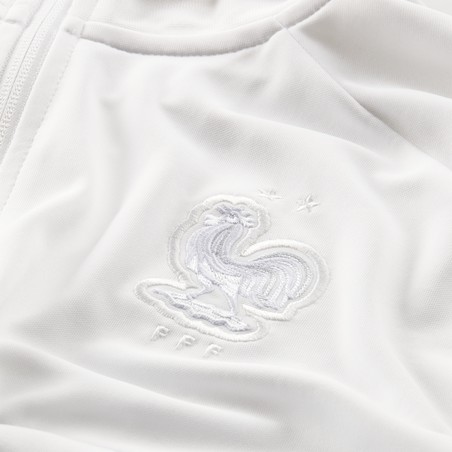Veste survêtement Equipe de France I96 Anthem blanc 2020