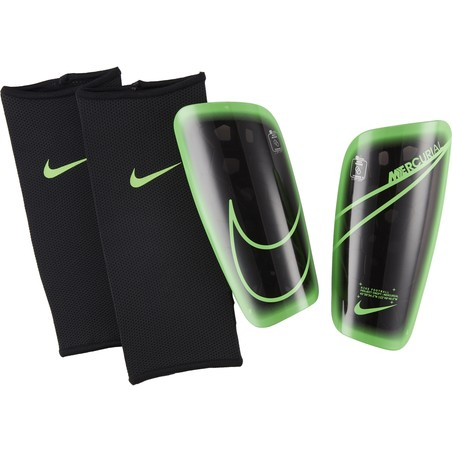 Protège tibias Nike Mercurial Lite noir vert 2020/21