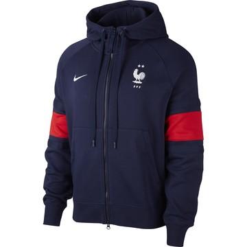 Veste survêtement Equipe de France Nike Air Fleece bleu rouge 2020