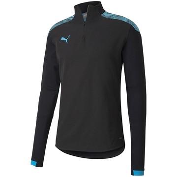 Sweat zippé Puma noir bleu 2019/20