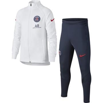 Ensemble survêtement junior PSG blanc bleu 2020/21