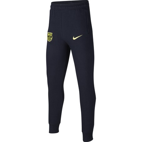 Pantalon survêtement junior FC Barcelone GFA Fleece noir jaune 2019/20