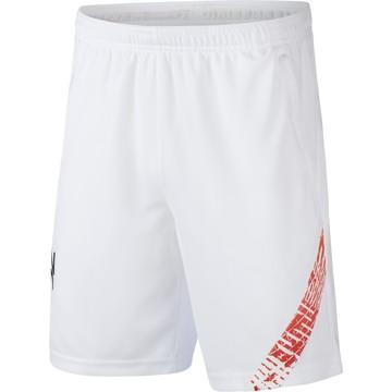 Short entraînement junior Neymar blanc rouge 2020/21