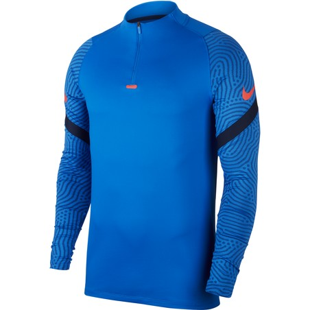 Sweat zippé Nike Strike bleu 2020/21