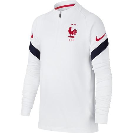 Sweat zippé junior Equipe de France blanc 2020