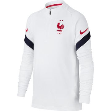 Sweat zippé junior Equipe de France blanc 2020