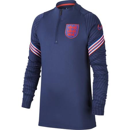 Sweat zippé junior Angleterre bleu rouge 2020