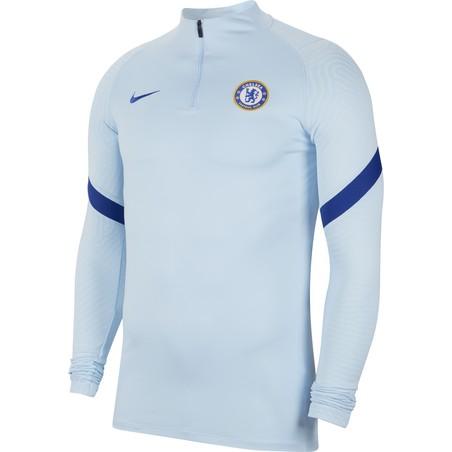 Sweat zippé Chelsea bleu clair 2020/21