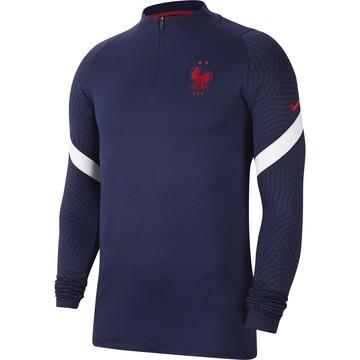 Sweat zippé Equipe de France bleu 2020/21