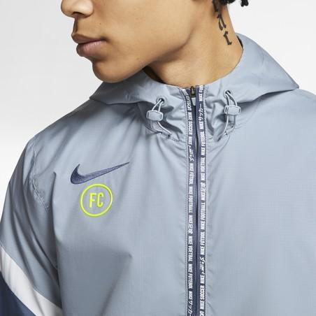 Sweat zippé à capuche Nike F.C. microfibre bleu