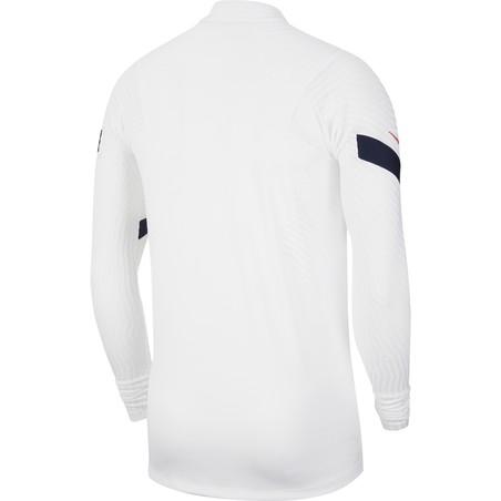 Sweat zippé Equipe de France VaporKnit blanc 2020