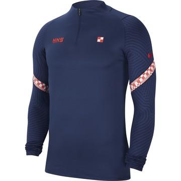 Sweat zippé Croatie bleu 2020
