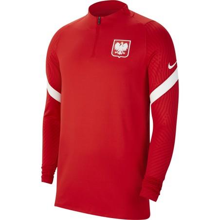 Sweat zippé Pologne rouge 2020