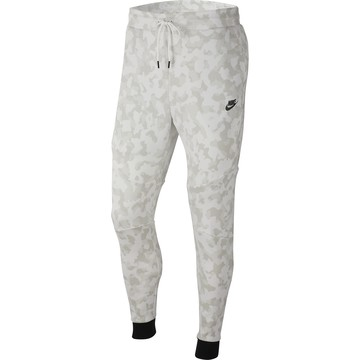 Pantalon survêtement Nike TechFleece blanc