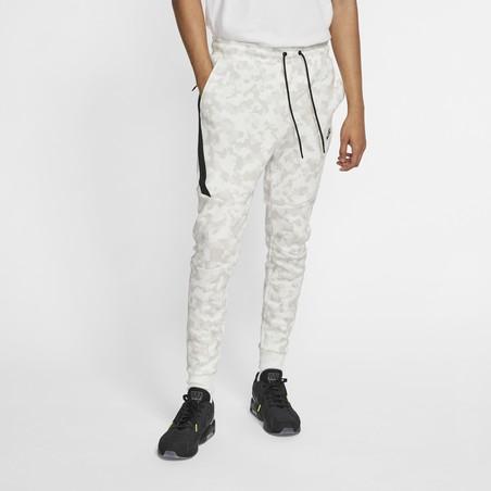 Pantalon survêtement Nike TechFleece blanc