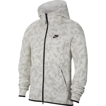 Veste survêtement Nike TechFleece blanc