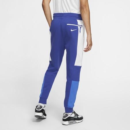 Pantalon survêtement Nike Air Fleece bleu blanc
