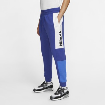 Pantalon survêtement Nike Air Fleece bleu blanc